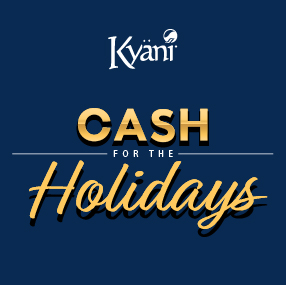 October Promotion –Cash for the Holidays